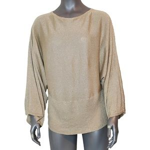 Lane Bryant Metalic Gold Blouse